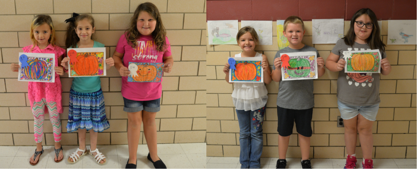 AES is Fall Ready!  To celebrate fall, students in grades 1 and 2 at AES had a pumpkin coloring contest.