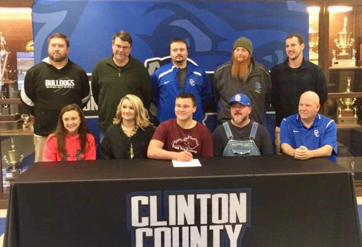 CCHS seniors Jon-Allen Cross and Noah Pruitt will continue playing football after graduation.