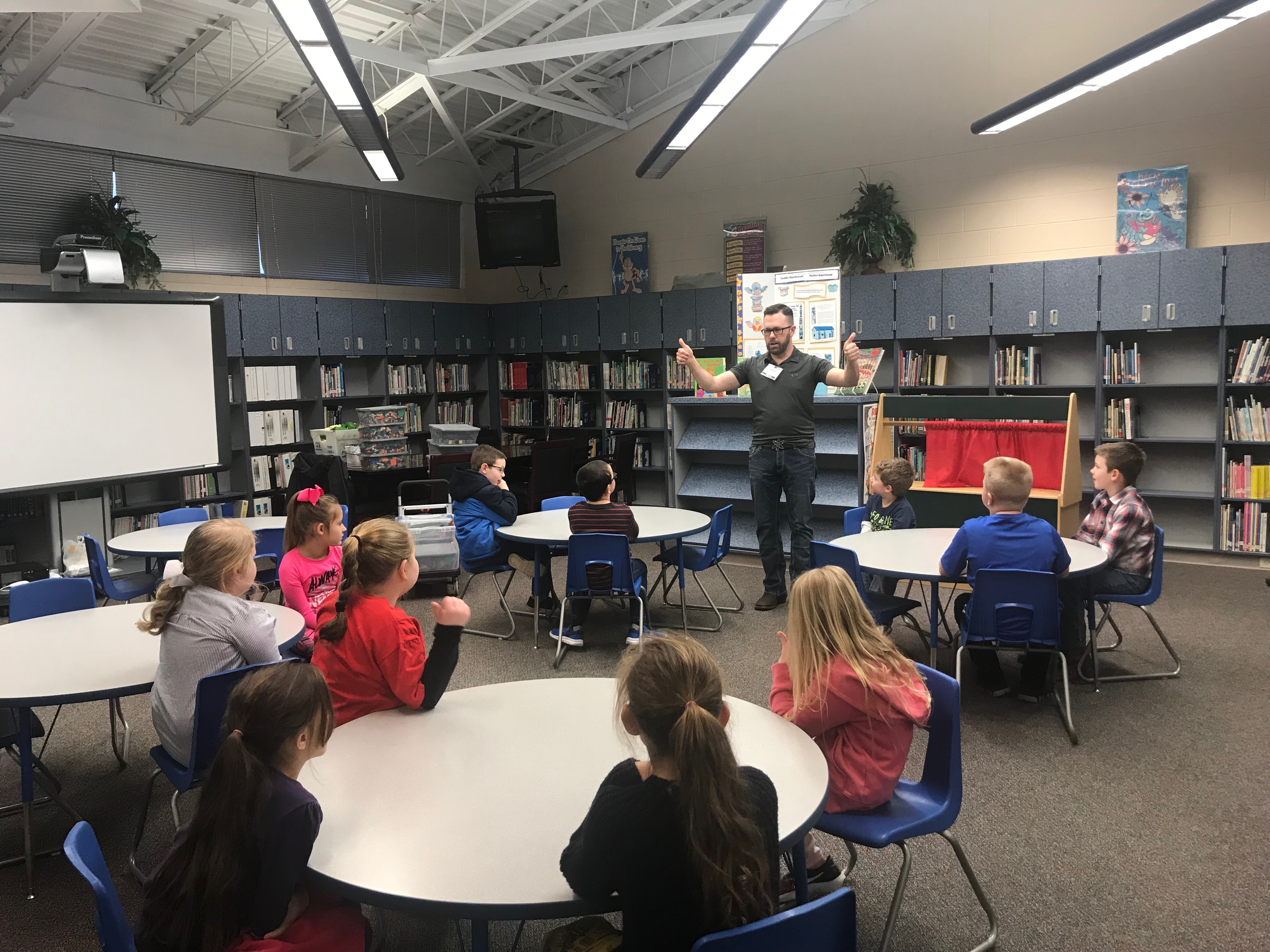 On Wednesday, January 23rd, students in the Gifted & Talented program at Albany Elementary School enjoyed a visit with Mr. Science!
