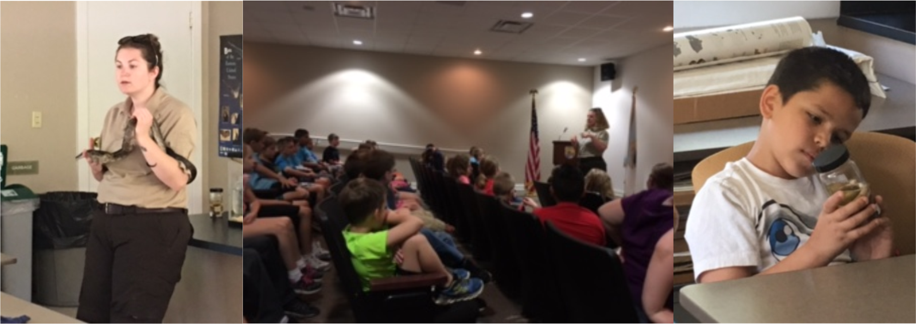 The students in Mrs. Jona Guffey's and Mrs. Samantha Marcum-Blackaby's 3rd grade classes at AES recently toured the Wolf Creek Fish Hatchery.