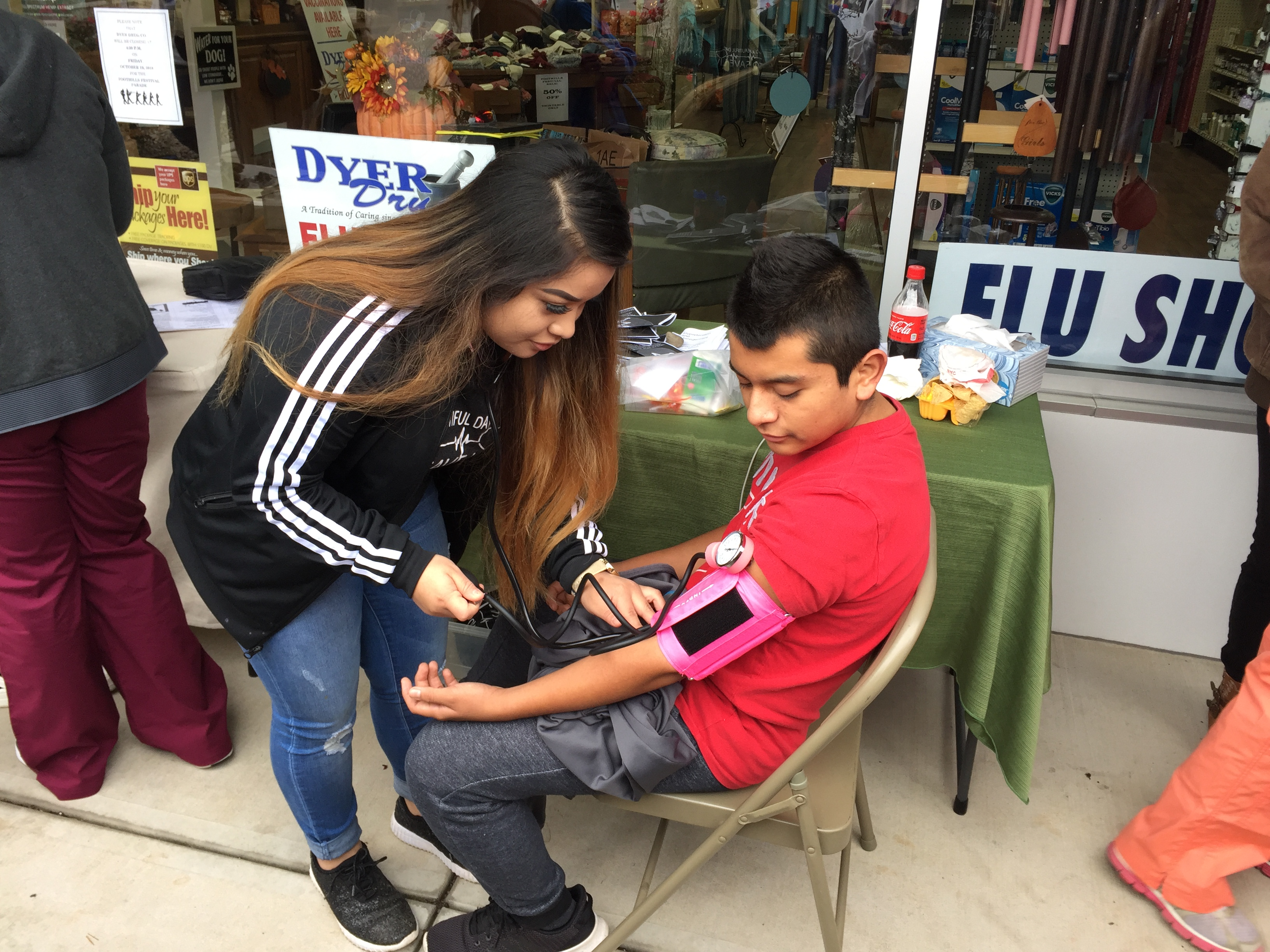 Nurse Aide program students got hands-on experience at a local Health Fair.
