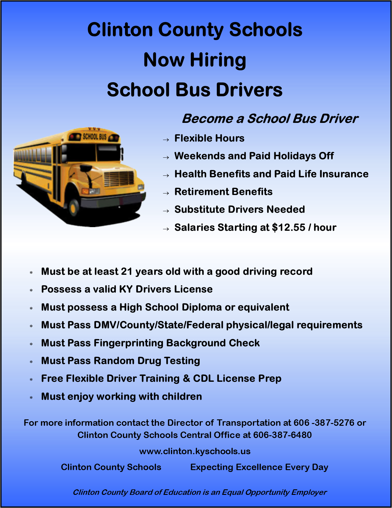 Become a School Bus Driver!