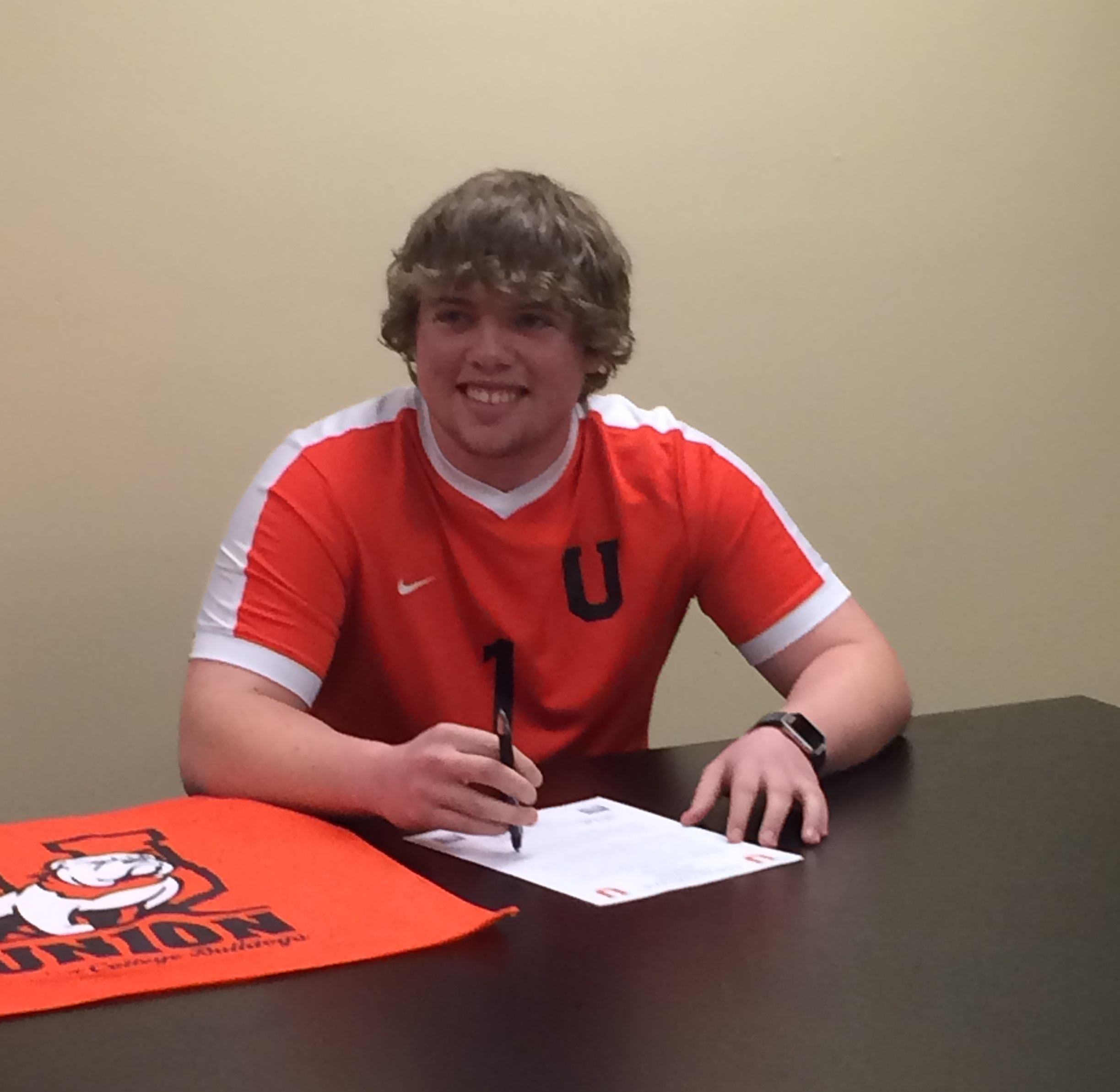 CCHS senior Holden Shepard will continue to be a Bulldog after graduation.  On National Signing Day, Shepard signed his letter of intent to play soccer at Union College.
