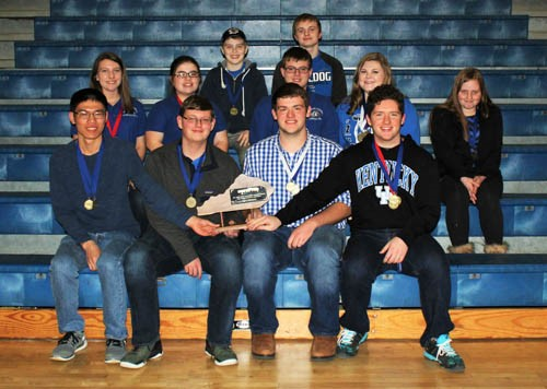 The Clinton County High School Academic Team won first place at the District 15 High School Governor's Competition on Saturday, January 28th.