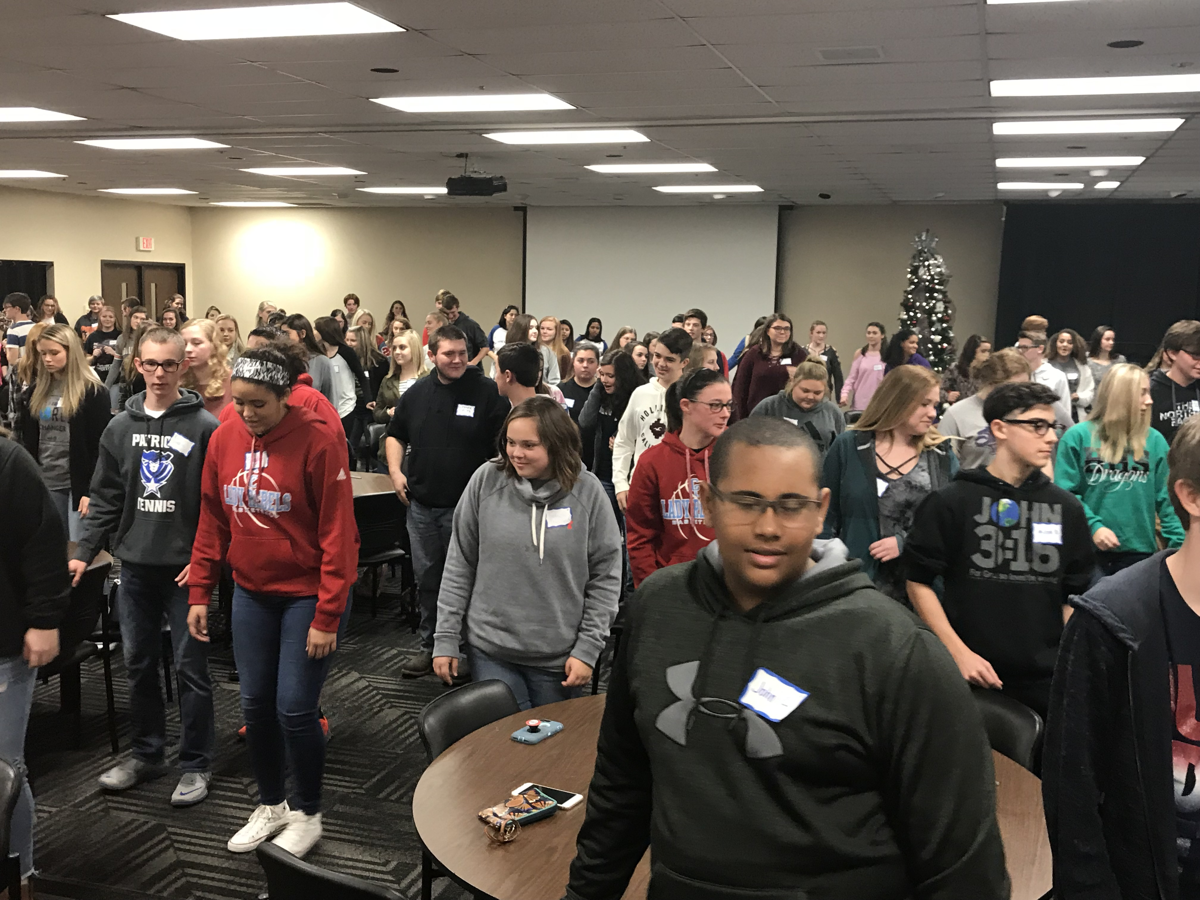 A group of fifteen students in 9th and 10th grades from CCHS attended the iBELIEVE Leadership Summit at Eastern Kentucky University on November 28, 2017.