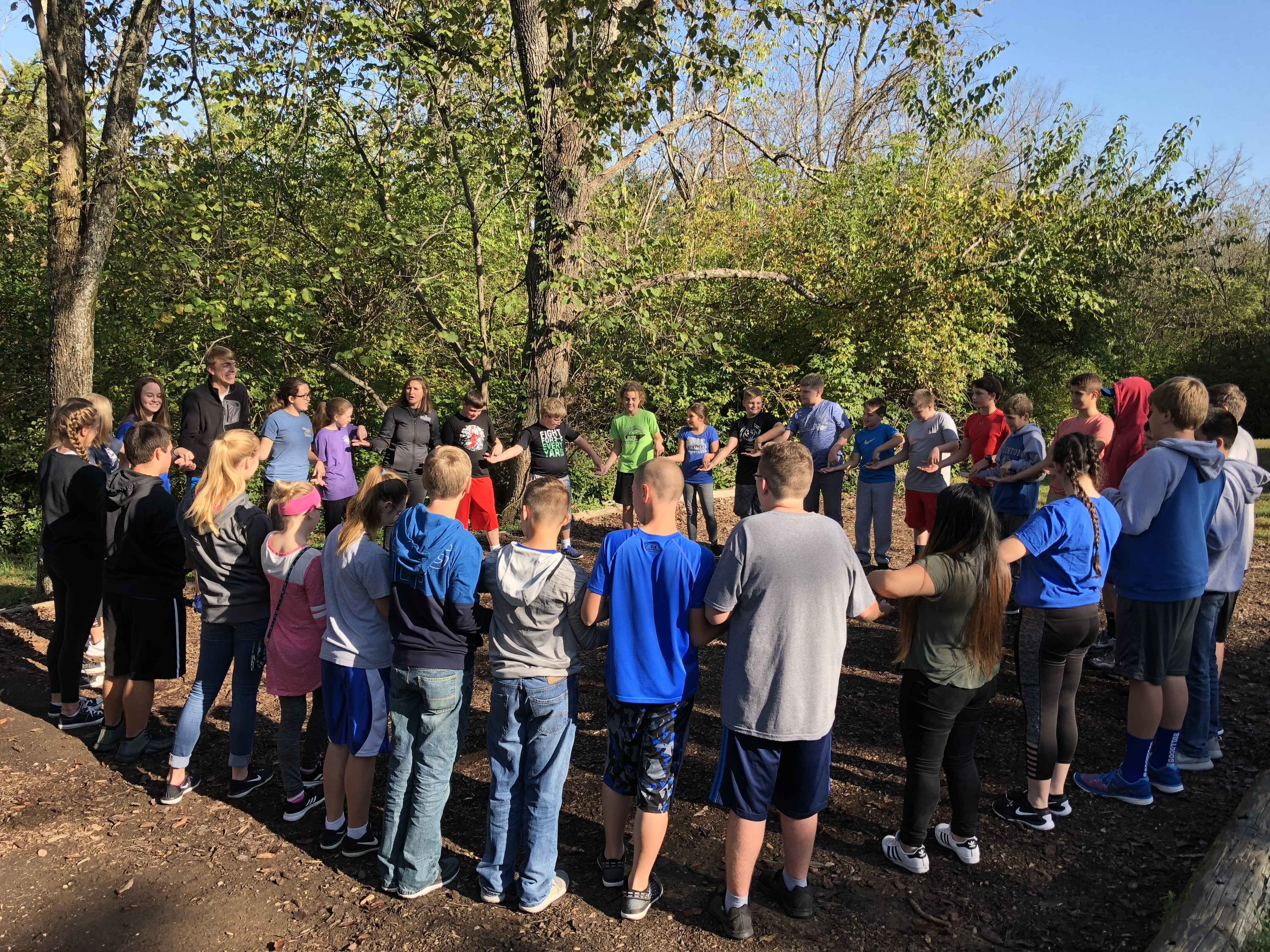 On Friday, October 13th, Gifted & Talented students from CCMS and CCHS were transported to Asbury University Challenge Course in Wilmore, Kentucky.