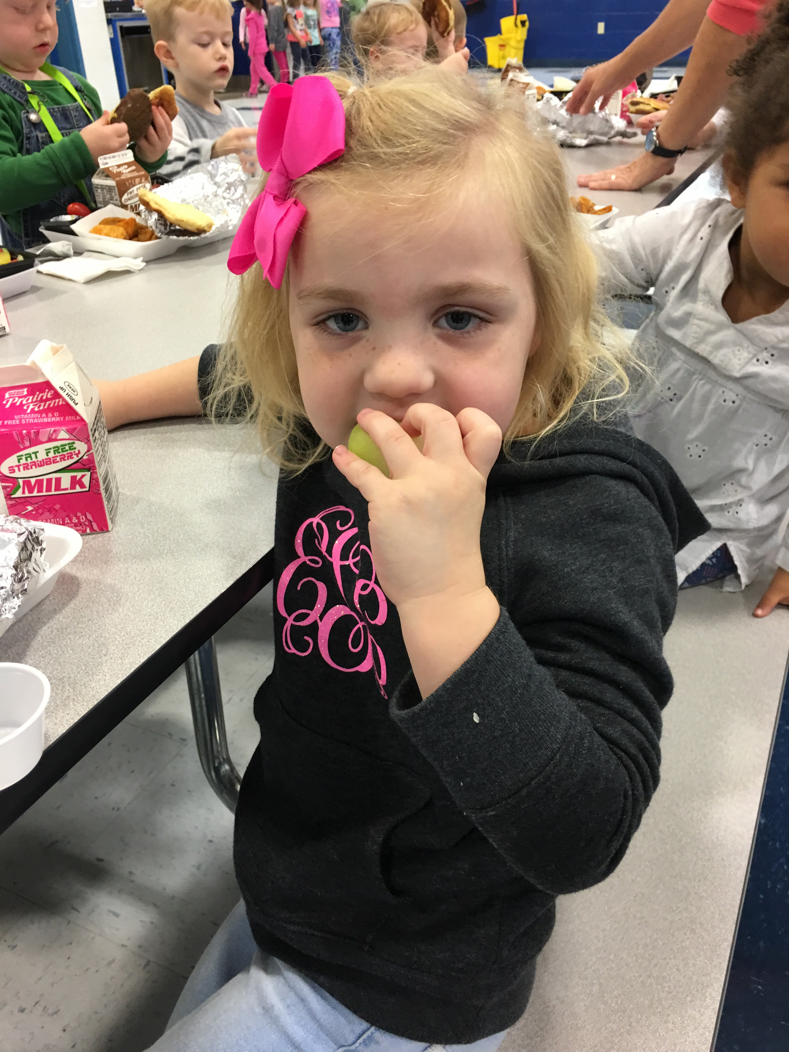 Students at ECC and AES had the opportunity to try honeydew and yellow tomato during Try Day on Tuesday, November 7th.