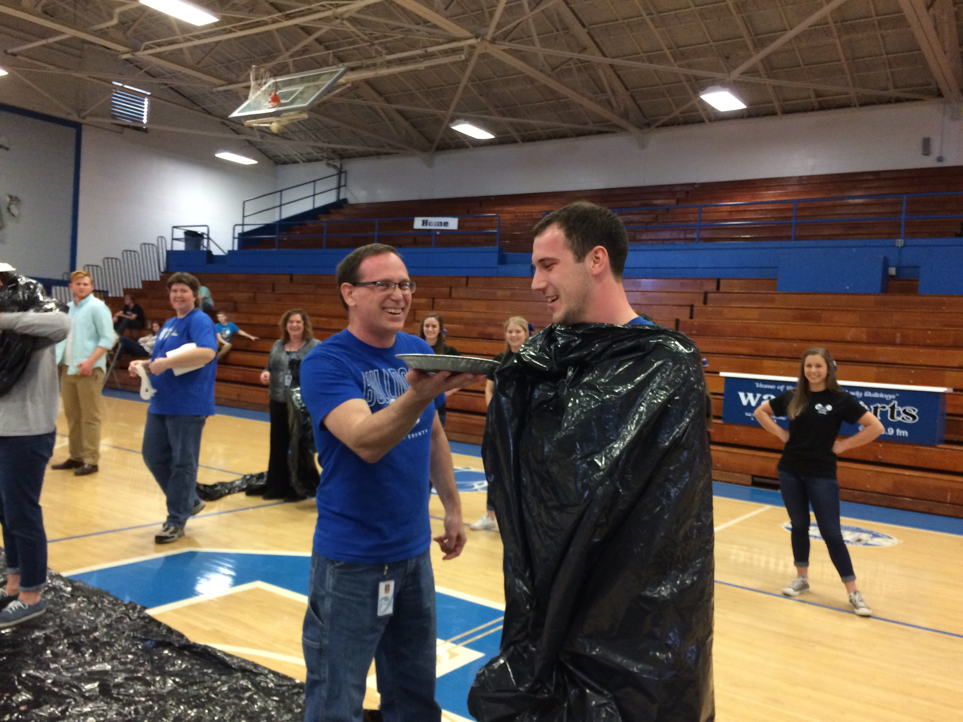 "To raise money for cancer research, the Clinton County High School Relay for Life team sponsored a ""Pie in the Face"" fundraiser at CCHS."