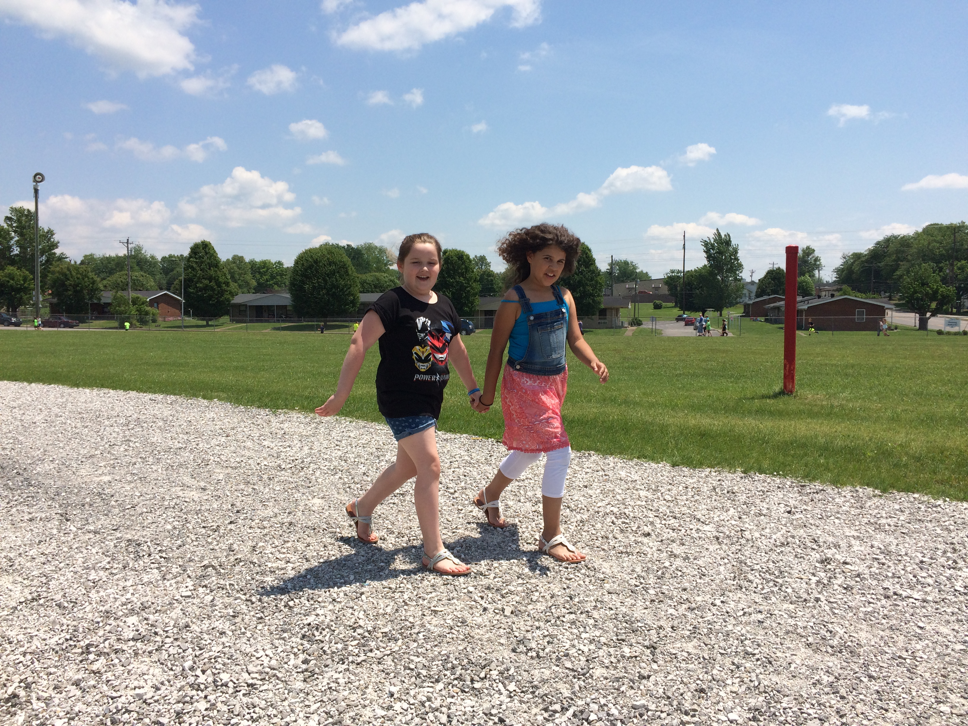 Clinton County Healthy Hometown recently added a 1/8 mile gravel walk track to the front law at AES to encourage more physical fitness activity among students.