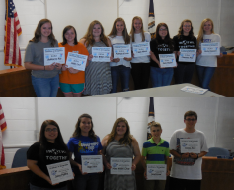 The members of the high school academic team, as well as the high school KUNA students, were recognized at the May 15th school board meeting.