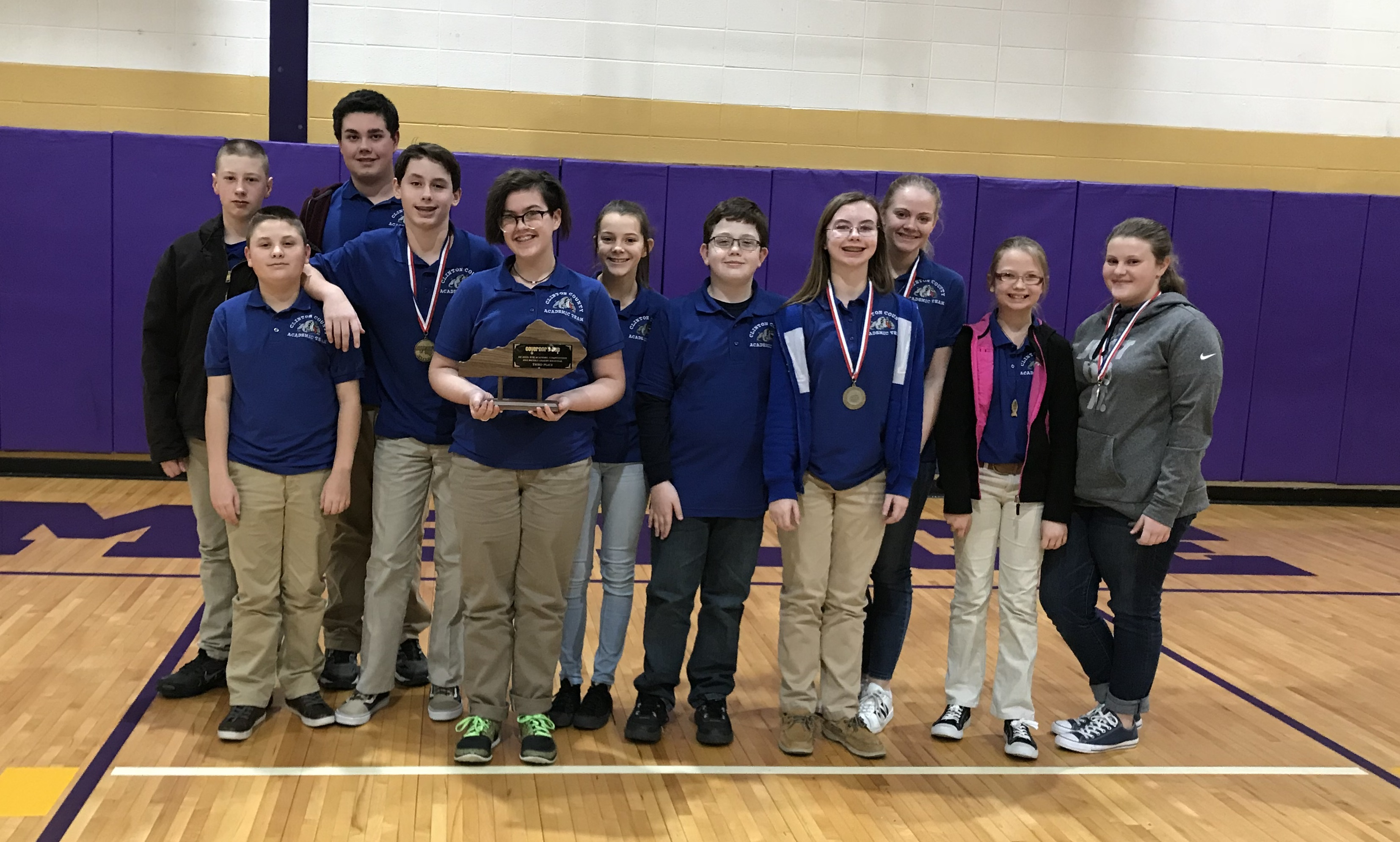 Clinton County Middle School Academic Team is 3rd runner-up at Regional Governor's Cup.