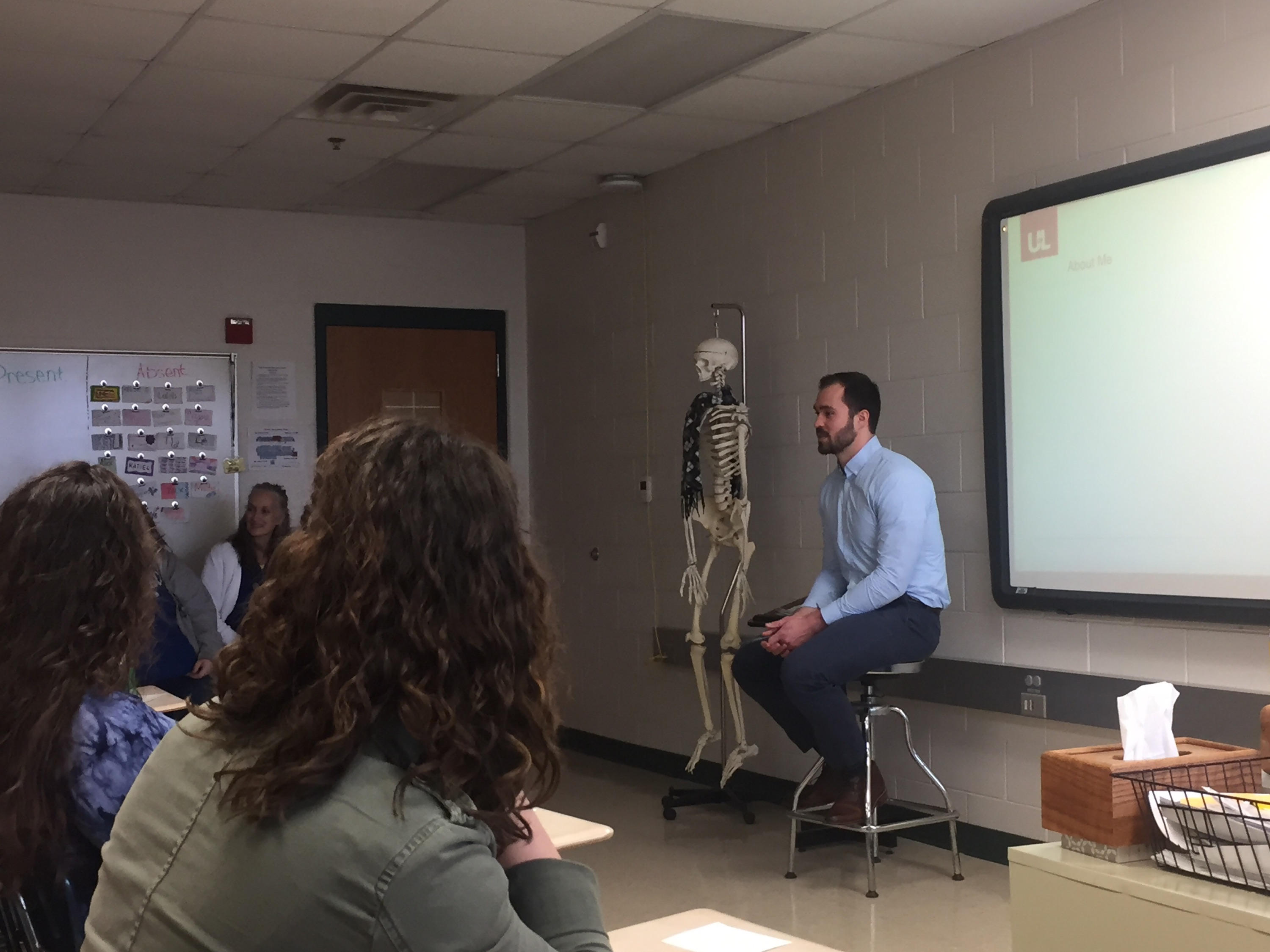 On March 8th, the health science students at CCATC enjoyed a visit with Dennis Propp, a third year medical student at U of L School of Medicine.