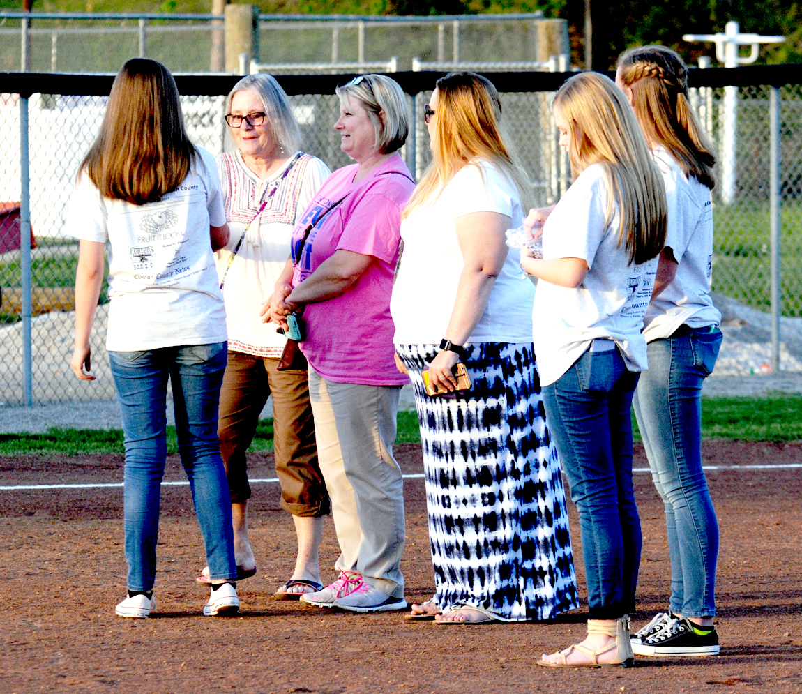 The CCHS Relay for Life team and softball team joined together to celebrate cancer survivors at Pink Out night on April 13th.