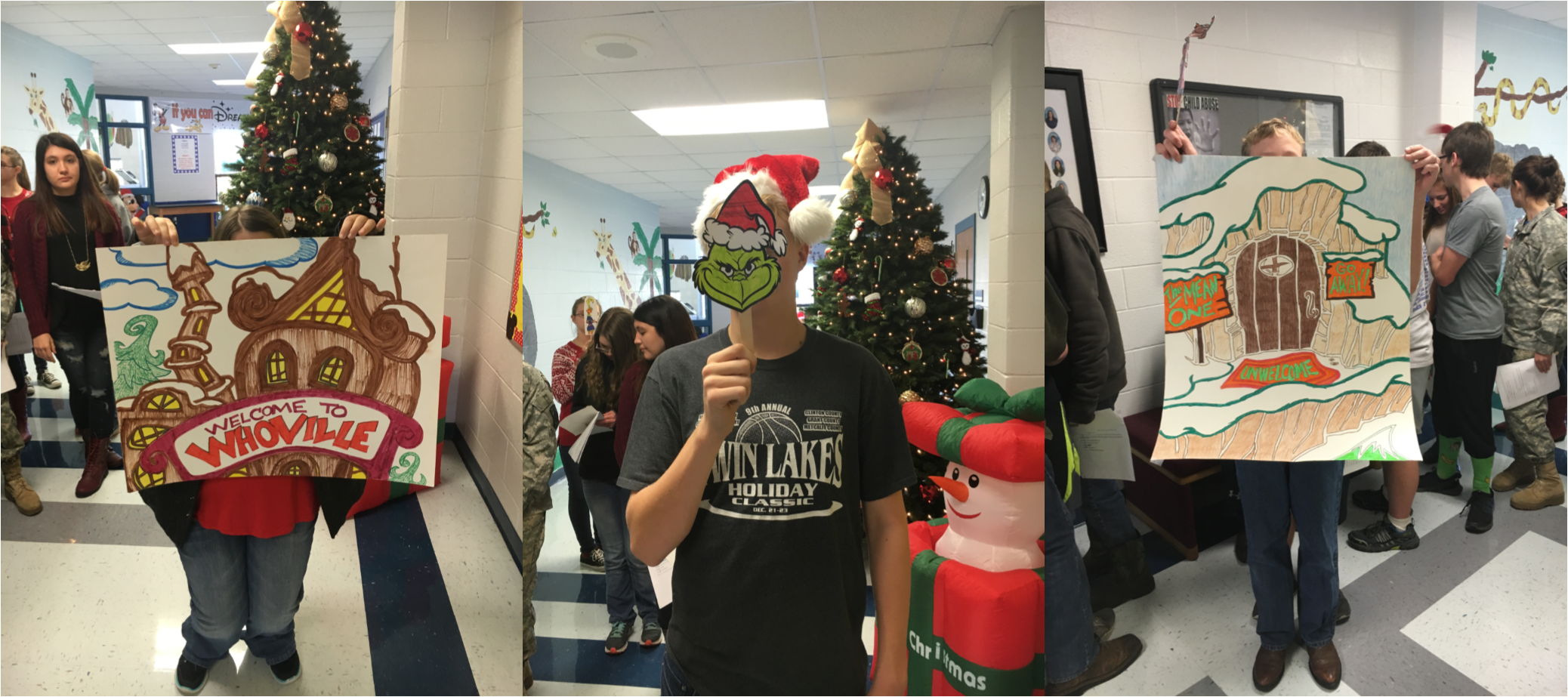 Mrs. Katresa Collins' Pre-AP English I class at CCHS performed a reader's theater of Dr. Seuss' How the Grinch Stole Christmas on Friday, December 9th.