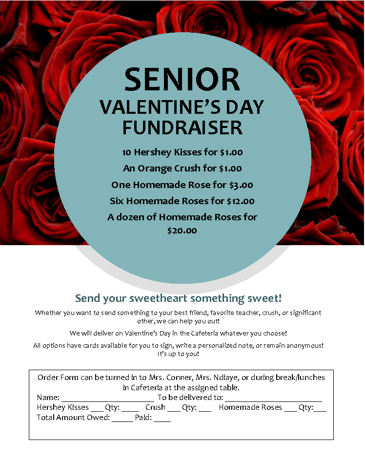 Send your sweetheart something sweet and support the senior class!