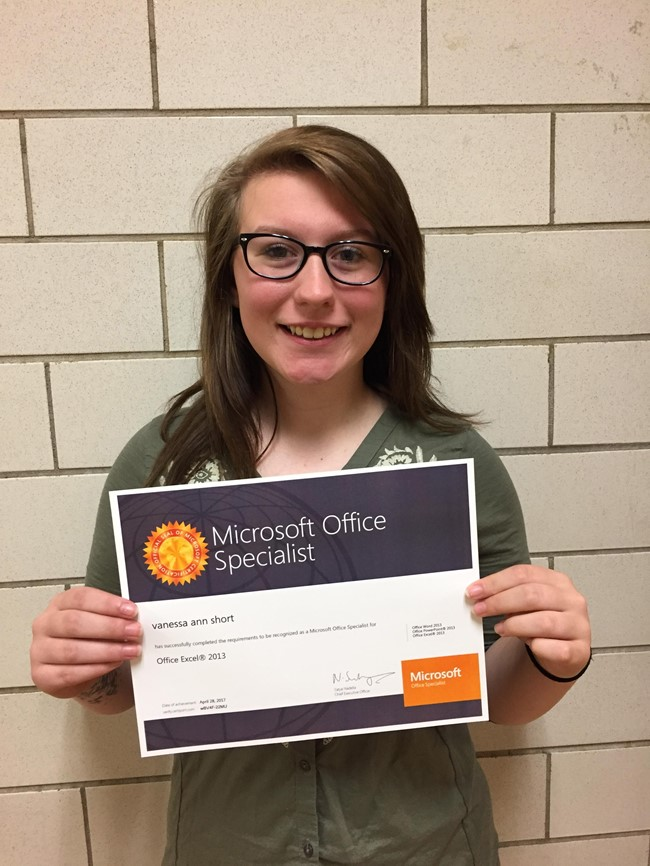 Ccatc Students Are Microsoft Office Specialists Clinton County
