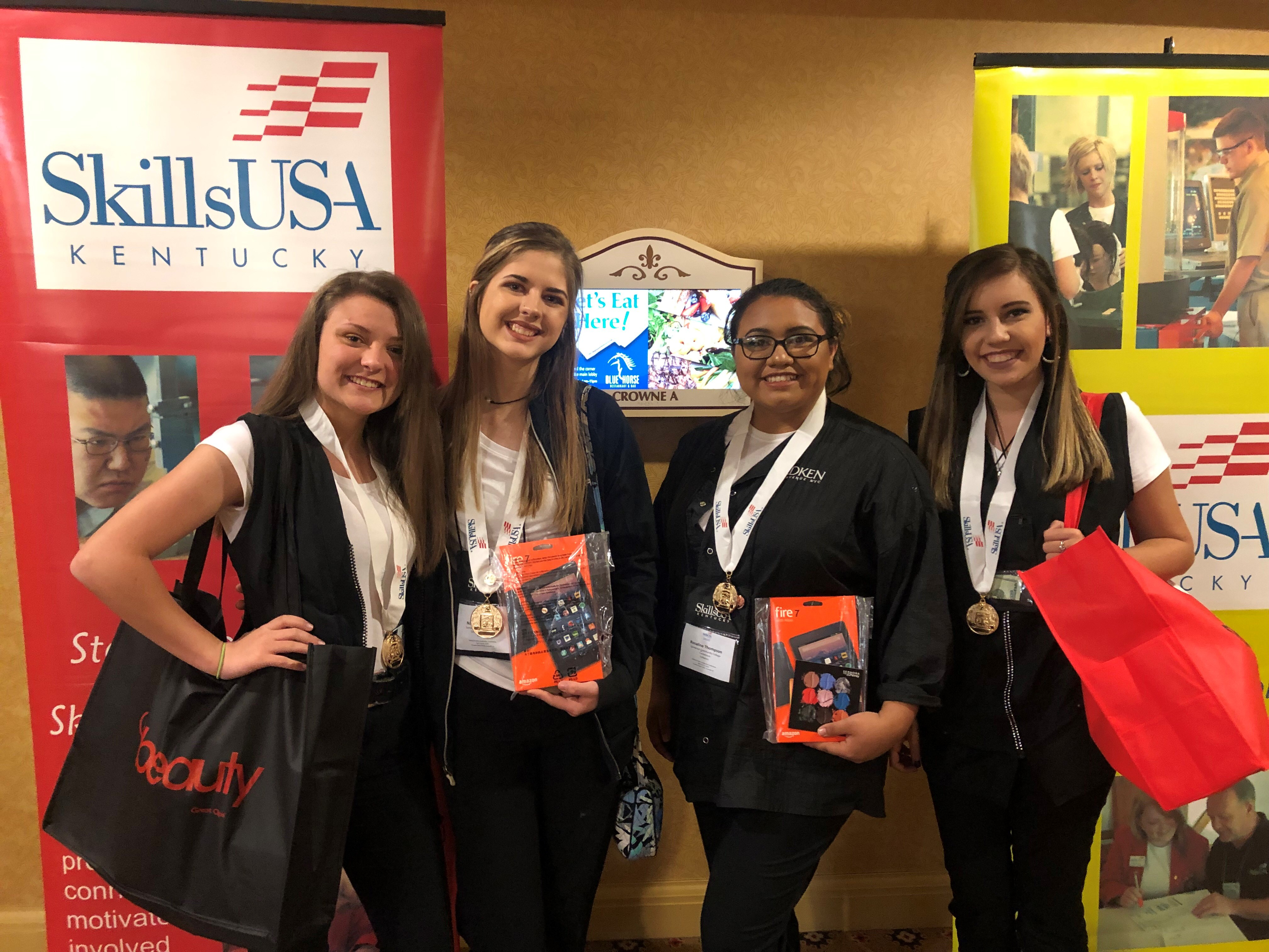 Students from the Somerset Community College Cosmetology program at Southern Kentucky Early College & Career Academy competed at event, bringing home first place in three events!
