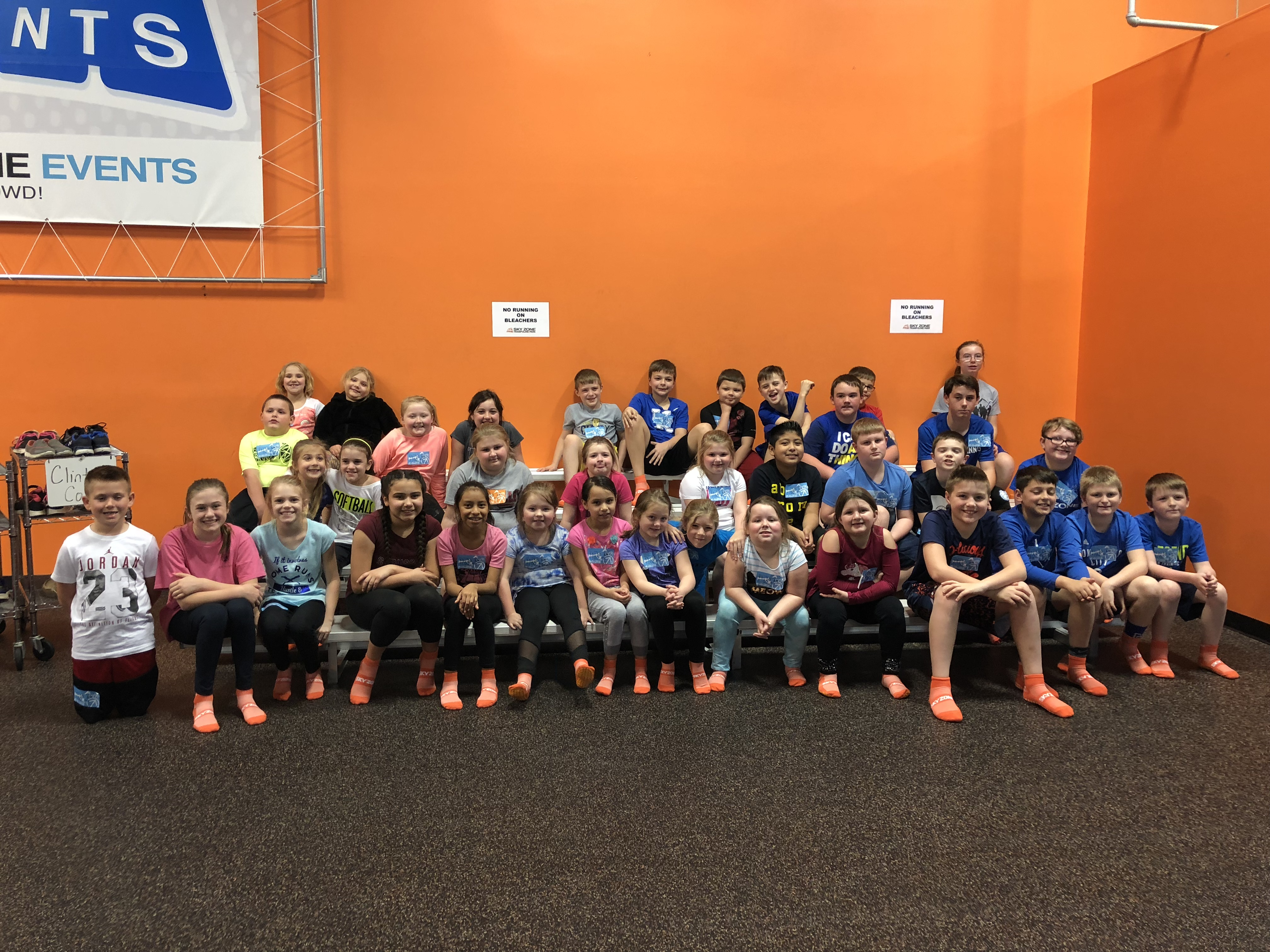 Healthy Hometown Fitness Buddies were rewarded for their hard work with a trip to Sky Zone in Lexington on Tuesday, April 3, 2018.