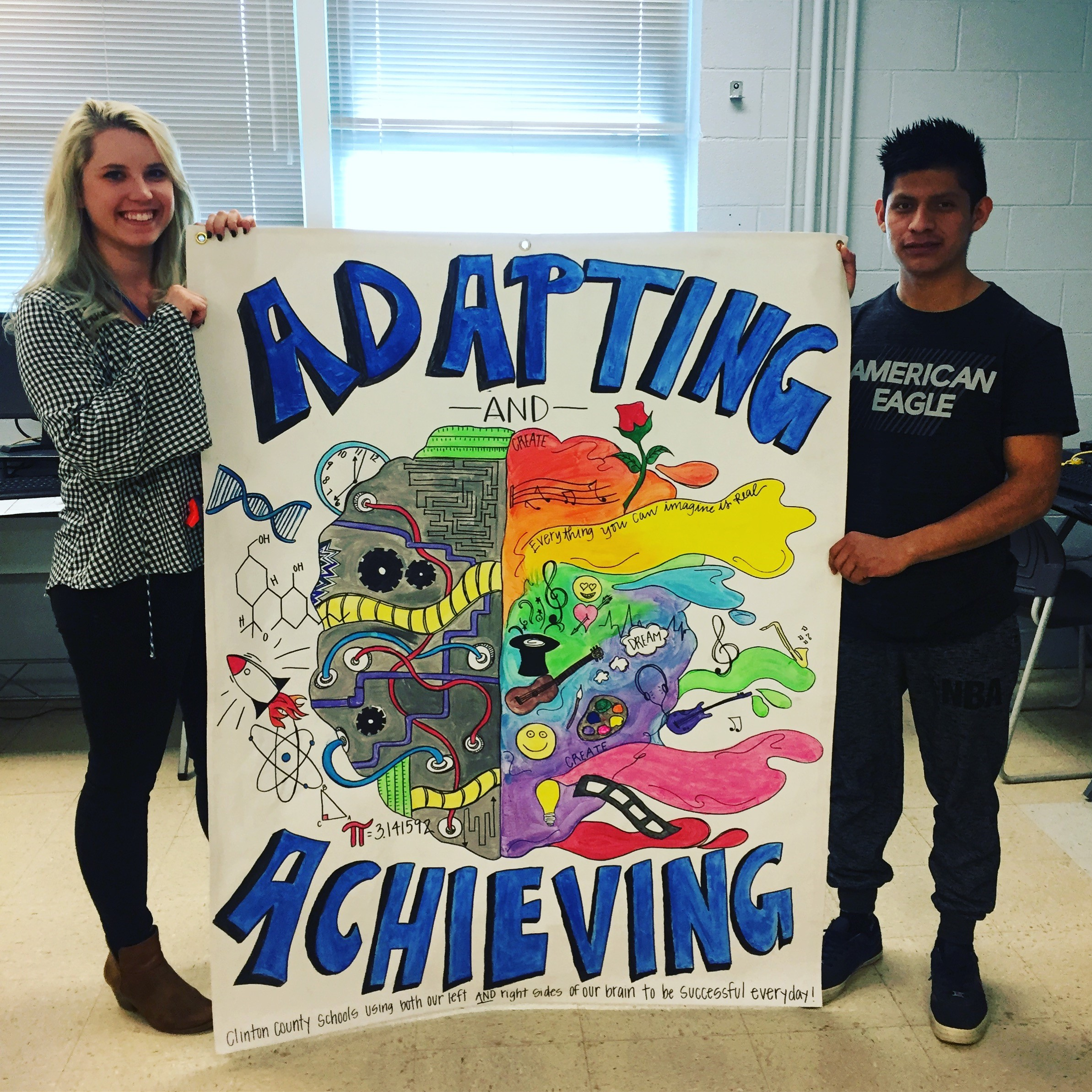 The students in Mrs. Presley Sutton's art classes at CCHS created the school district's banner for the 82nd annual Kentucky School Boards Association Conference in March.