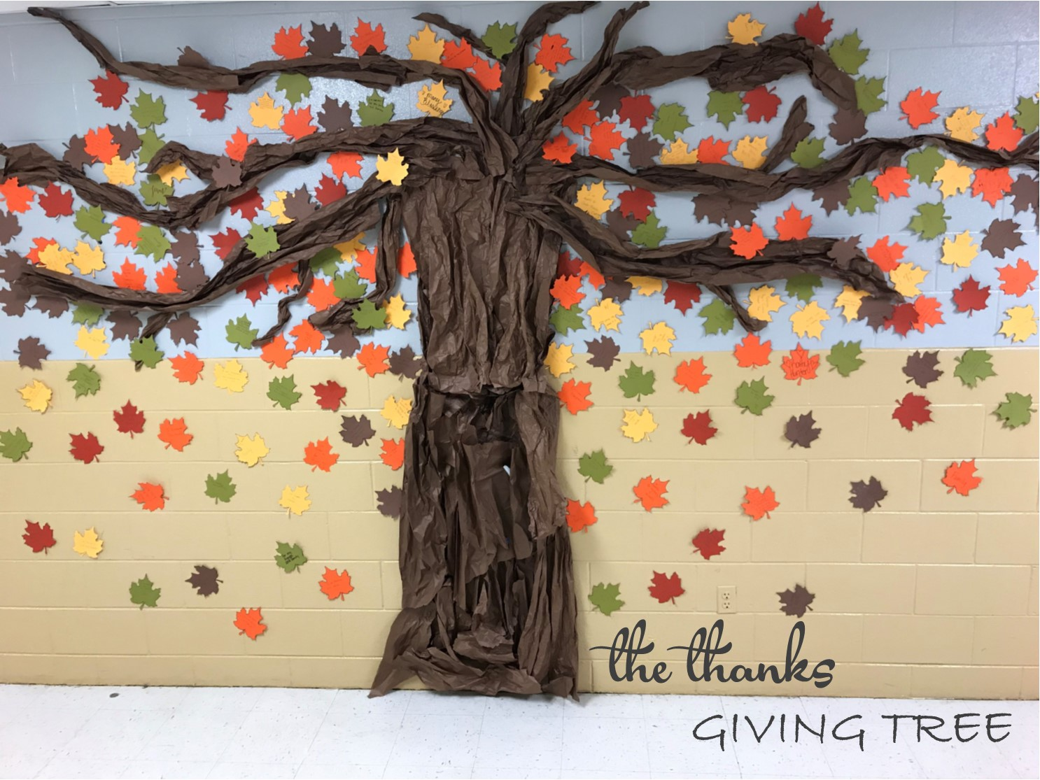 The Link Crew members at CCHS helped to create a Thanks-Giving Tree to celebrate this season of giving thanks.
