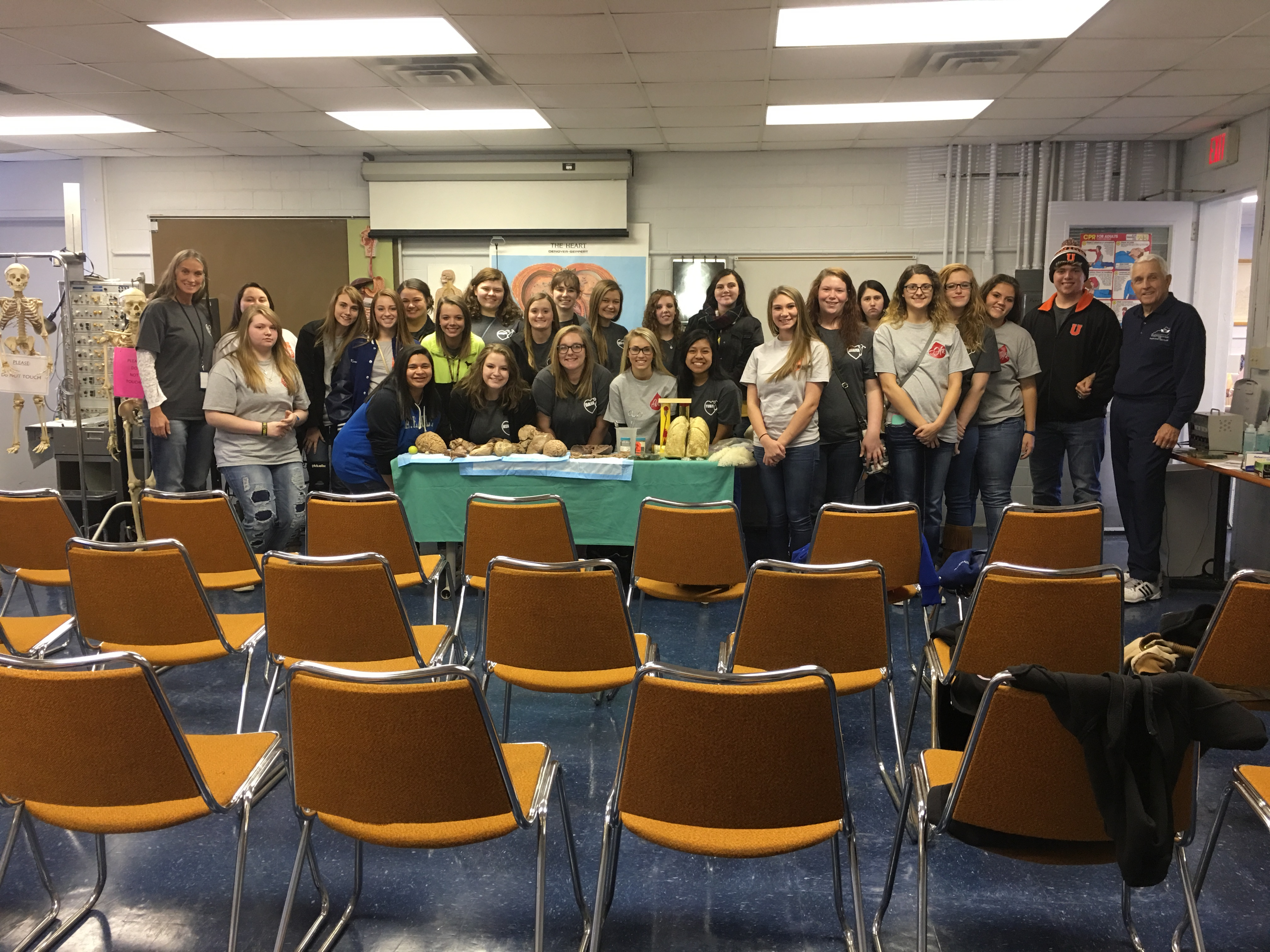 On Thursday, November 9th, Clinton County Area Technology Center's Health Science students visited the University of Kentucky's Cadaver Lab.